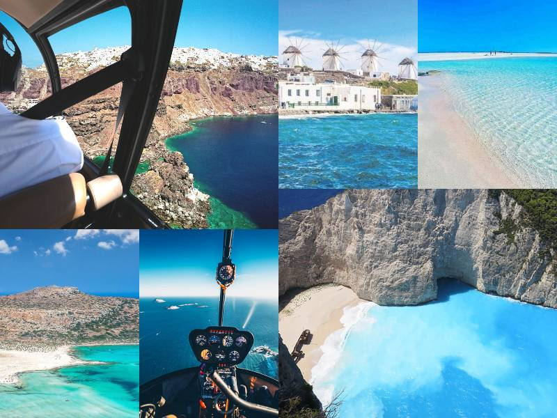 Helicopter Flights to Greek Island Hopping