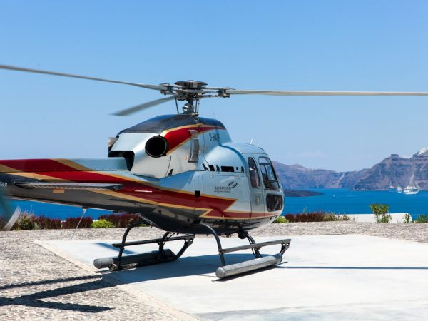 Helicopter Flights in Santorini and cyclades